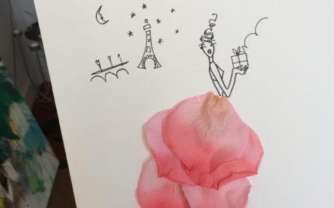 Les ateliers avec des fleurs stabilisées.
